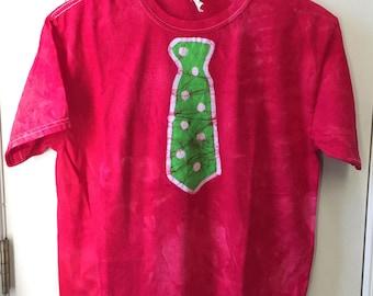 Kids Shirt with Tie, Kids Tie Shirt, Red Tie Shirt, Kids Necktie Shirt, Funny Kids Shirt, Boys Tie Shirt, Girls Tie Shirt (12)