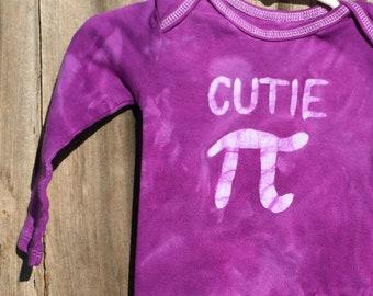 Cutie Pi Baby Bodysuit, Purple Pi Day Baby Shirt, Math Baby Gift, Baby Girl Pi Day, Baby Girl Cutie Pi, Baby Boy Cutie Pi (12 months)