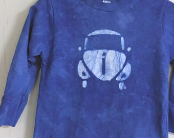 Kids Car Shirt, Blue Car Shirt, Kids Beetle Shirt, Boys Car Shirt, Girls Car Shirt, Kids Volkswagen Shirt, Blue Beetle (18 months)