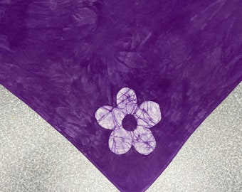Purple Flower Dog Scarf, Ring Bearer Dog Scarf, Wedding Dog Bandana, Dog Bandana, Wedding Bandana, Purple Dog Scarf, Dog Bandanna