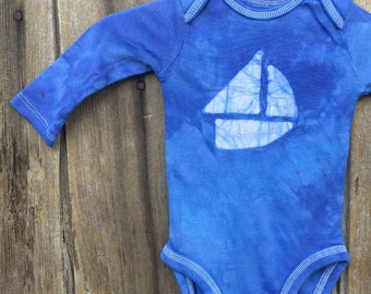 Nautical Baby Gift, Sailboat Baby Gift, Baby Sailboat Bodysuit, Gender Neutral Baby Gift, Boat Baby Gift, Nautical Baby Bodysuit
