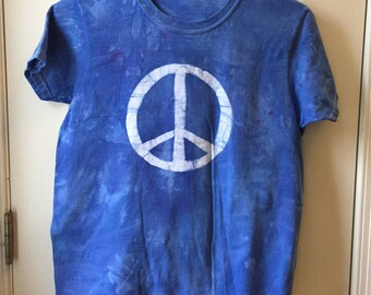 Peace Sign Shirt, Womens Peace Sign Shirt, Ladies Peace Sign Shirt, Batik Peace Sign Shirt, Womens Peace Top, Ladies Peace Top, Peace Shirt