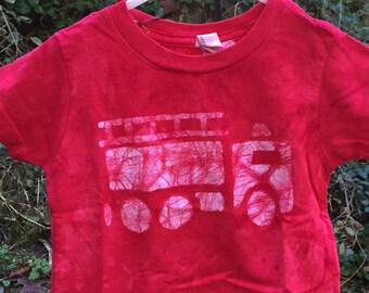 Kids Fire Truck Shirt, Red Fire Truck Shirt, Boys Fire Truck Shirt, Fire Engine Shirt, Kids Truck Shirt, Girls Fire Truck Shirt (18 months)
