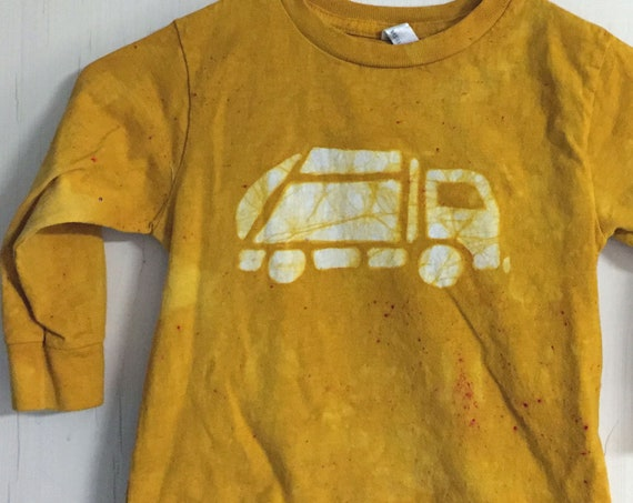 Garbage Truck Shirt, Kids Truck Shirt, Kids Garbage Truck Shirt, Boys Truck Shirt, Girls Truck Shirt, Yellow Truck Shirt, Long Sleeves (3T)