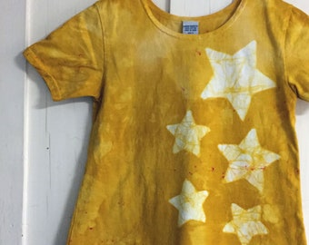 Girls Star Dress, Yellow Star Dress, Yellow Girls Dress, Girls Yellow Dress, Star Girls Dress, Star Yellow Dress, Celestial Girls Dress (8)