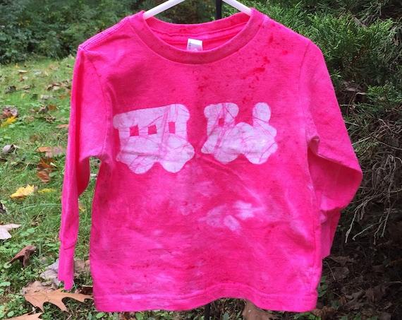 Kids Train Shirt, Pink Train Shirt, Girls Train Shirt, Boys Train Shirt, Train Christmas Gift, Long Sleeve Train Shirt (2T)