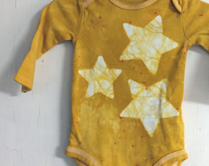 Featured listing image: Star Baby Bodysuit, Yellow Star Baby Bodysuit, Yellow Baby Bodysuit, Gender Neutral Gift, Baby Shower Gift, Newborn Baby Gift (3-6 months)