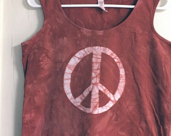 Peace Sign Tank Top, Peace Sign Tank, Peace Tank Top, Ladies Peace Sign Top, Womens Peace Sign Top, Ladies Peace Shirt, Womens Peace Shirt
