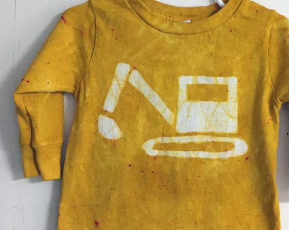 Kids Truck Shirt, Boys Truck Shirt, Girls Truck Shirt, Kids Excavator Shirt, Yellow Excavator Shirt, Kids Digger Shirt (18 months)
