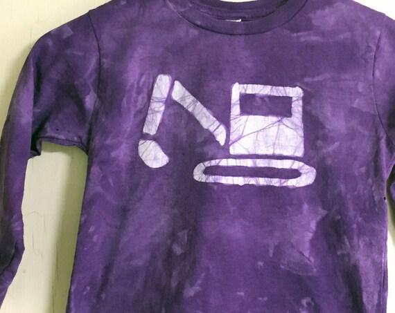 Kids Truck Shirt, Boys Truck Shirt, Girls Truck Shirt, Kids Excavator Shirt, Purple Truck Shirt, Kids Digger Shirt, Purple Kids Shirt (4/5)