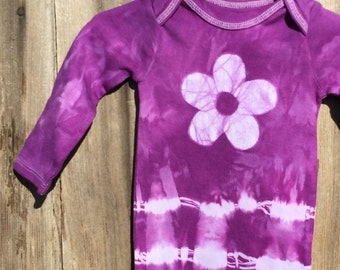 Valentine's Day Baby Bodysuit, Tie Dye Baby Bodysuit, Purple Baby Gift, Baby Girl Gift, Purple Baby Shower Gift (12 months)