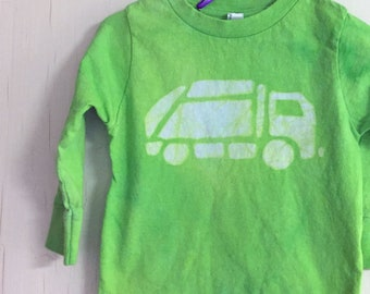 Garbage Truck Shirt, Green Truck Shirt, Kids Garbage Truck Shirt, Kids Truck Shirt, Boys Truck Shirt, Girls Truck Shirt (18 months)