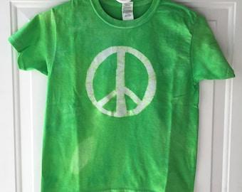 Kids Peace Sign Shirt, Kids Peace Shirt, Green Peace Sign Shirt, Green Peace Shirt, Boys Peace Shirt, Girls Peace Shirt (Youth S)