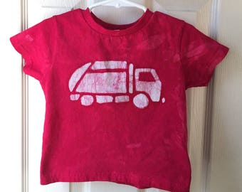 Garbage Truck Shirt, Kids Truck Shirt, Boys Garbage Truck Shirt, Red Truck Shirt, Girls Truck Shirt, Boys Truck Shirt (2T)
