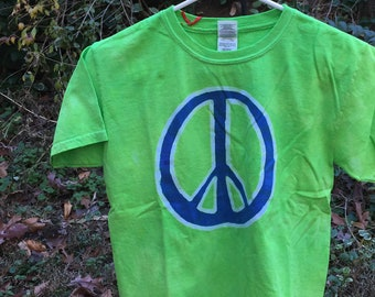 Peace Sign Shirt, Kids Peace Sign Shirt, Girls Peace Sign Shirt, Blue Peace Sign, Lime Green Peace Shirt, Kids Peace Shirt (8)