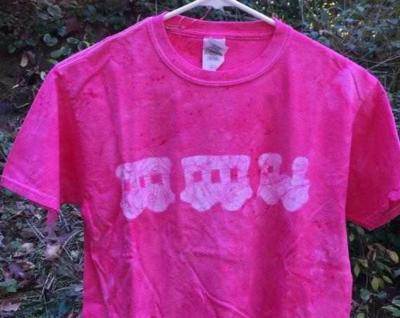 Kids Train Shirt, Pink Train Shirt, Girls Train Shirt, Boys Train Shirt, Pink Boys Shirt, Kids Locomotive Shirt, Train Shirt (Youth L)