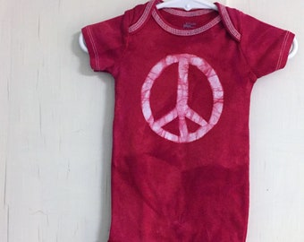 Peace Sign Baby Bodysuit, Baby Peace Sign Bodysuit, Peace Sign Baby Gift, First Birthday Baby Gift, Gender Neutral Baby Gift (12 months)