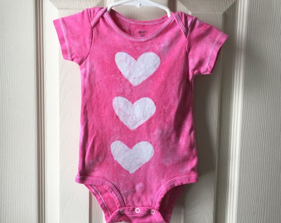 Baby Girl Gift, Baby Shower Gift, Pink Baby Gift, Baby's First Birthday Gift, Pink Baby Bodysuit, Gift for Baby Girl (12 months)