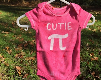 Pi Day Baby Bodysuit, Pink Pi Day Baby Shirt, Cutie Pi Bodysuit, Nerdy Baby Bodysuit, Math Baby Gift, Baby Gift for Engineers (3 months)