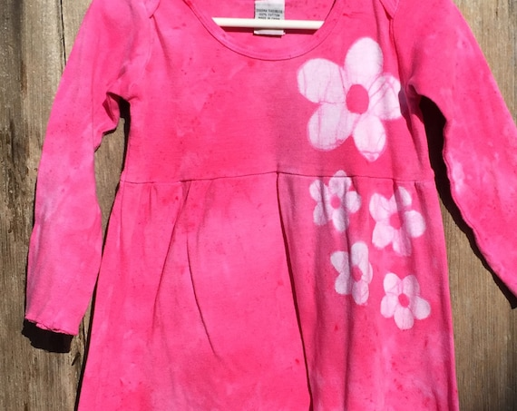 Girls Valentine's Day Dress, Pink Girls Dress, Flower Girls Dress, Pink Flower Dress, Girls Pink Dress, Girls Easter Dress (2T)