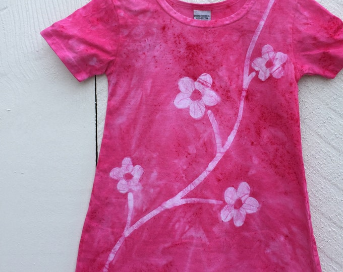 Featured listing image: Pink Girls Dress, Girls Flower Dress, Flower Girls Dress, Toddler Girls Dress, Pink Flower Dress, Batik Girls Dress, Girls Pink Dress (2T)