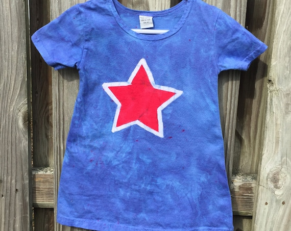 Patriotic Girls Dress, Toddler Patriotic Dress, Red Star Dress, Red White and Blue Dress, Girls Fourth of July Dress, July 4th Dress (2T)