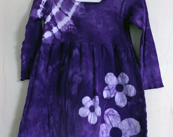 Girls Valentine's Day Dress, Purple Girls Dress, Flower Girls Dress, Purple Flower Dress, Girls Purple Dress, Girls Easter Dress (2T)