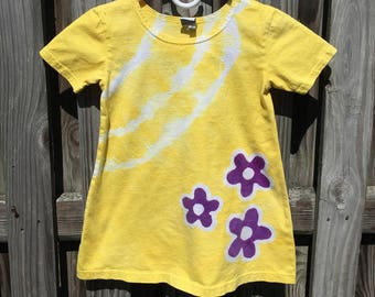 Yellow Girls Dress, Girls Yellow Dress, Yellow Flower Girl Dress, Purple Flower Dress, Flower Girl Dress, Yellow Flower Dress (4T)