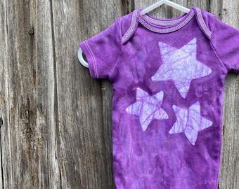 Star Baby Bodysuit, Purple Baby Bodysuit, Star Baby Gift, Purple Baby Gift, Baby Shower Gift, Celestial Baby Gift (12 months)