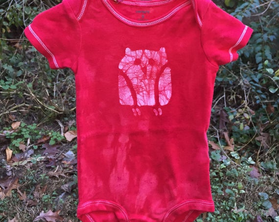 Owl Baby Gift, Baby Owl Gift, Owl Baby Bodysuit, Gender Neutral Baby Gift, Red Baby Gift, Owl Baby Shower, Baby Shower Gift (9 months)