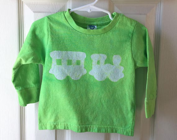 Kids Train Shirt, Boys Train Shirt, Girls Train Shirt, Green Train Shirt, Toddler Train Shirt, Long Sleeve Shirt (18 months)