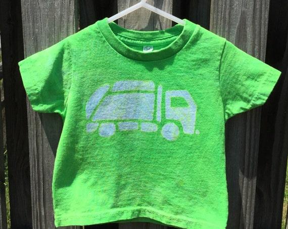 Garbage Truck Shirt, Kids Truck Shirt, Boys Garbage Truck Shirt, Green Truck Shirt, Girls Truck Shirt, Green Garbage Truck Shirt (18 months)