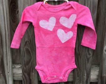Baby Girl First Birthday Gift, Baby Girl Gift, Pink Baby Gift, Baby Shower Gift, Pink Baby Girl Bodysuit, Pink Baby Bodysuit (12 months)