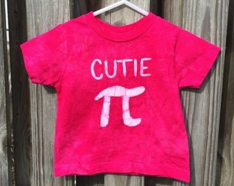 Kids Pi Day Shirt, Girls Pi Day Shirt, Toddler Cutie Pi Shirt, Kids Math Shirt, Pink Cutie Pi Shirt, Nerdy Kids Shirt (18 months)