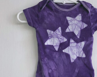 Star Baby Bodysuit, Purple Baby Bodysuit, Purple Baby Bodysuit, Gender Neutral Gift, Baby Shower Gift, Newborn Baby Gift (0-3 months)