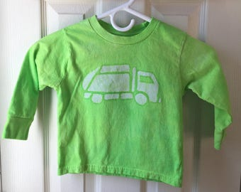 Garbage Truck Shirt, Green Truck Shirt, Kids Garbage Truck Shirt, Kids Truck Shirt, Boys Truck Shirt, Girls Truck Shirt, Long Sleeves (3T)