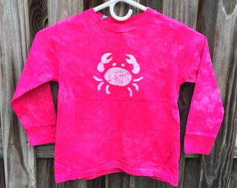 Pink Crab Shirt, Kids Crab Shirt, Girls Crab Shirt, Hot Pink Crab Shirt, Long Sleeve Girls Shirt, Maryland Crab Shirt (4/5)
