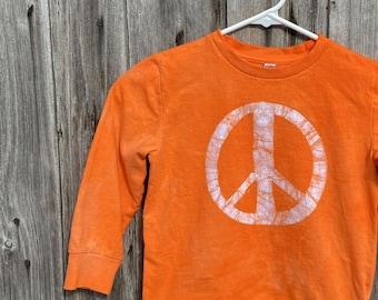 Kids Peace Sign Shirt, Boys Peace Sign Sign, Girls Peace Sign Shirt, Orange Peace Sign Shirt, Orange Kids Shirt, Orange Peace Shirt (4/5)