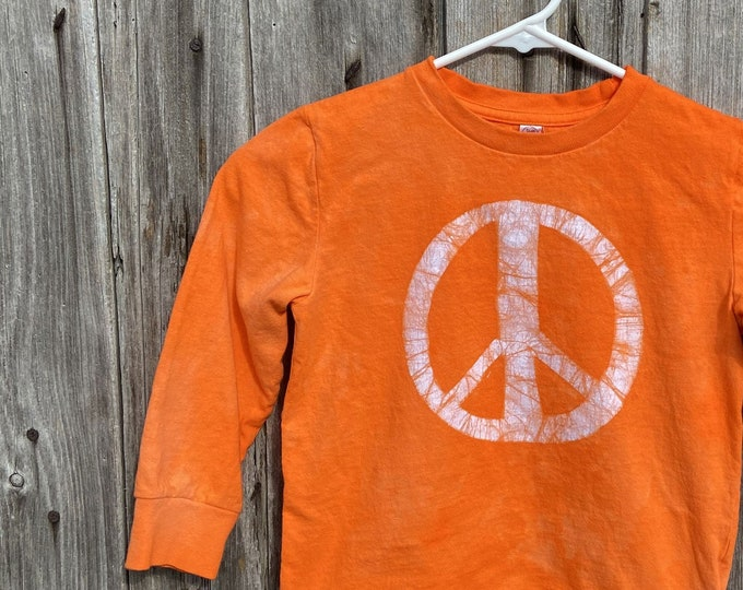 Featured listing image: Kids Peace Sign Shirt, Boys Peace Sign Sign, Girls Peace Sign Shirt, Orange Peace Sign Shirt, Orange Kids Shirt, Orange Peace Shirt (4/5)