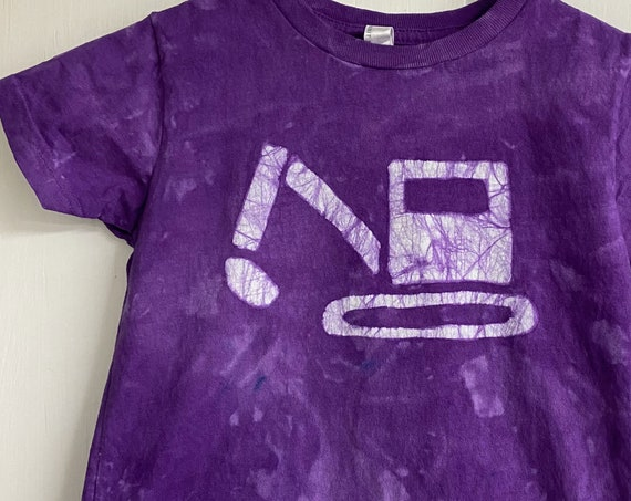 Kids Excavator Shirt, Kids Digger Shirt, Kids Truck Shirt, Boys Truck Shirt, Girls Truck Shirt, Construction Shirt, Purple Truck Shirt (4/5)
