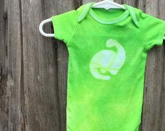 Dinosaur Baby Bodysuit, Dinosaur Baby Gift, Gender Neutral Baby Gift, Green Dinosaur Baby Bodysuit, Green Baby Shower Gift (6-9 months)