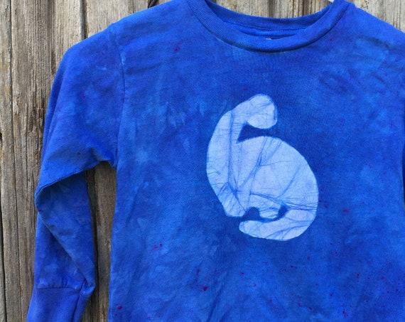 Blue Dinosaur Shirt, Kids Dinosaur Shirt, Boys Dinosaur Shirt, Girls Dinosaur Shirt, Long Sleeve Dinosaur Shirt, Dinosaur Kids Shirt (4/5)