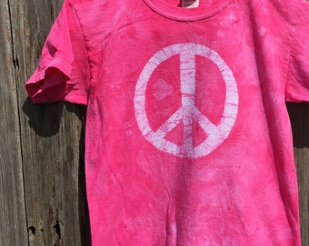 Kids Peace Sign Shirt, Pink Peace Sign Shirt,Pink Peace Shirt, Batik Kids Shirt, Batik Peace Sign Shirt, Peace Kids Shirt (6)