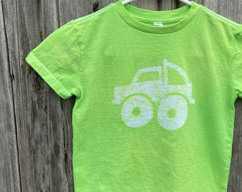 Kids Truck Shirt, Monster Truck Shirt, Boys Truck Shirt, Girls Truck Shirt, Kids Monster Truck Shirt, Green Monster Truck Shirt (4/5)