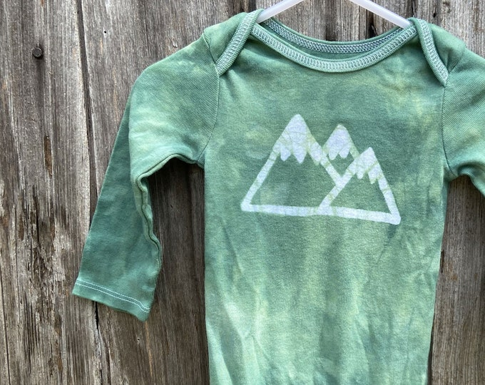 Featured listing image: Mountain Baby Bodysuit, Mountain Baby Gift, Hiking Baby Gift, Hiker Baby Gift, Gender Neutral Baby Gift, Baby Shower Gift, Outdoorsy Baby
