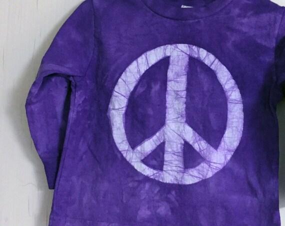 Kids Peace Sign Shirt, Boys Peace Sign Sign, Girls Peace Sign Shirt, Purple Peace Sign Shirt, Purple Kids Shirt, Purple Peace Shirt (2T)