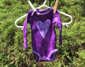 Preemie Baby Bodysuit, Preemie Boy Gift, Preemie Girl Gift, Purple Heart Baby Bodysuit, Purple Baby Gift, Purple Baby Bodysuit, Preemie Baby