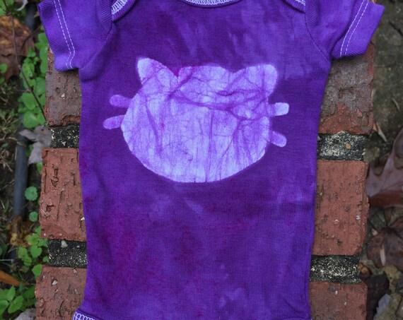 Preemie Baby Bodysuit, Preemie Cat Bodysuit, Preemie Boy Gift, Preemie Girl Gift, Preemie Baby Gift, Purple Cat Bodysuit, Cat Baby Gift