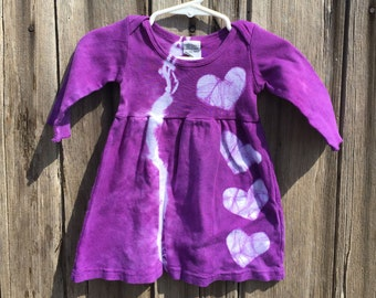 Baby Girl Gift, Purple Baby Dress, Baby Girl Dress, Baby Shower Gift, Long Sleeve Baby Dress, Cotton Baby Dress, Purple Baby Gift (3 months)