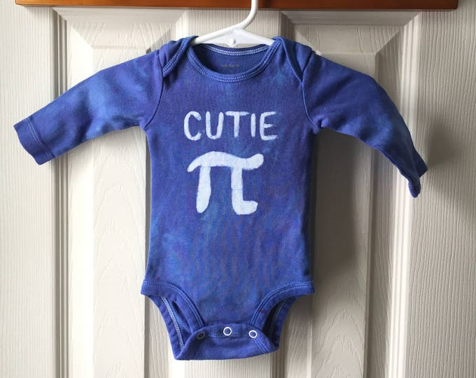 Featured listing image: Cutie Pi Baby Bodysuit, Pi Day Baby Bodysuit, Pi Day Baby Shirt, Nerdy Baby Gift, Engineering Baby Gift, Math Baby Gift, Baby Shower Gift